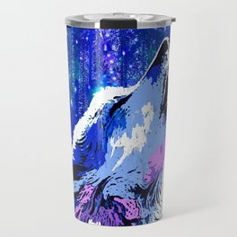 WOLF MOON AND SHOOTING STARS Travel Mug