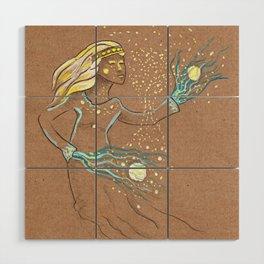 Star Girl Wood Wall Art