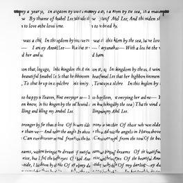 Annabel Lee Edgar Allan Poe Classic Poem Blackout Curtain
