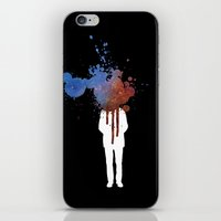 grafitti iPhone & iPod Skins featuring Space Galaxy Head – Abstract Grafitti by pithyPENNY