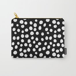 Sun Circle in Black and White Carry-All Pouch
