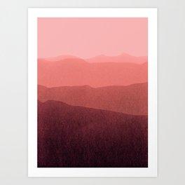 gradient landscape red Art Print