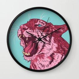 Magenta tiger Wall Clock