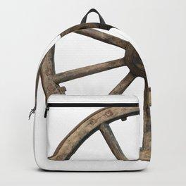 Old waggon wheel Backpack