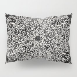 MANDALA ON BLACK MARBLE Pillow Sham