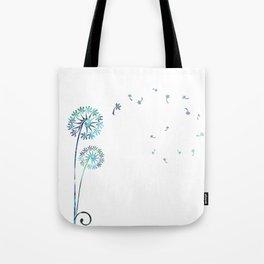 Dandelion Paua White Tote Bag