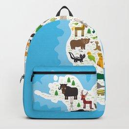 bison bat manatee fox elk horse wolf partridge fur seal Polar bear Pit viper snake Mountain goat Backpack