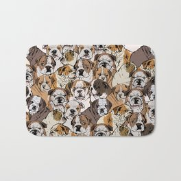 Social English Bulldog Bath Mat