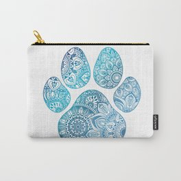 Paw print mandala Carry-All Pouch