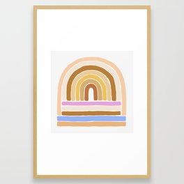 rainbow : tan Framed Art Print