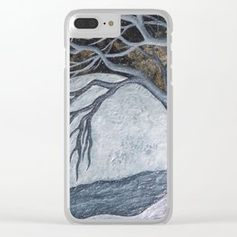 Silver Moon Clear iPhone Case