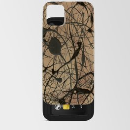 Pollock Inspired Abstract Black On Beige Corbin Art Contemporary Neutral Colors iPhone Card Case