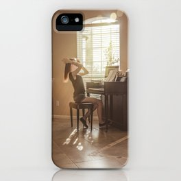 Hair Tossing Pianist  iPhone Case