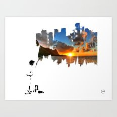 A BETTER DAY Art Print