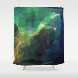 Galaxy low poly 3 Shower Curtain