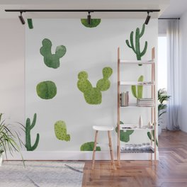 ABSTRACT WATERCOLOR CACTUS PATTERN Wall Mural