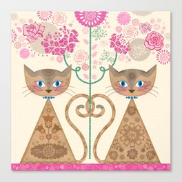 We Are Siamese Canvas Print
