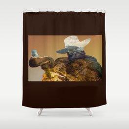 Erron Black  Shower Curtain