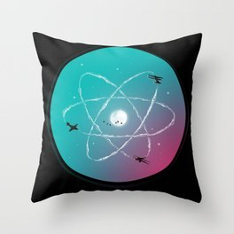 Atomic Formation Throw Pillow