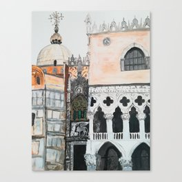 Venice architecture, Piazza San Marco, Dodge's Palace Canvas Print