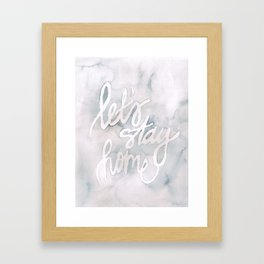"""let's stay home"" watercolor Framed Art Print"