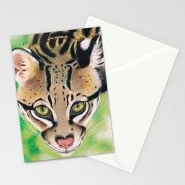 Ocelot Wild Cat Soft Pastel Art Stationery Cards