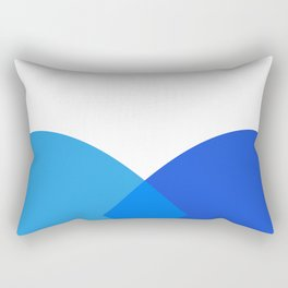 Abstract Blue Rectangular Pillow