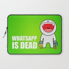 Whatsapp is dead Laptop Sleeve