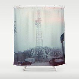 light leaks in snow Shower Curtain
