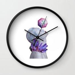 Woman Crystals Surreal Collage Wall Clock