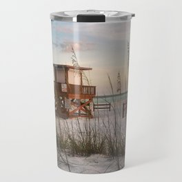 Life Guard at Sunset Travel Mug