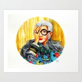 Iris Apfel.  Art Print