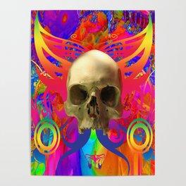 Skull Butterfly Poster