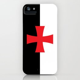 Knights Templar Flag - High Quality iPhone Case