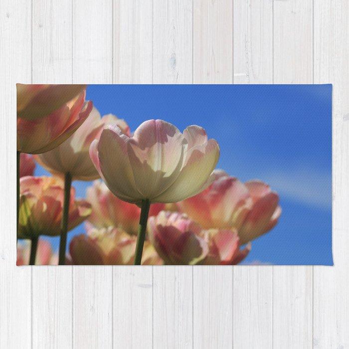 Yellow Tulips In The Sky Rug