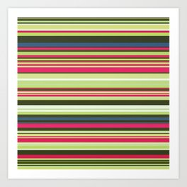 Old Country Stripes - Lime Cordial - Horizontal Art Print