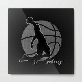 Basketball Player (monochrome) Metal Print