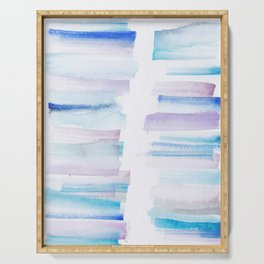 11 | 181101 Watercolour Palette Abstract Art | Lines | Stripes | Serving Tray