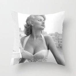 Sophia Loren Celebrity Silk Poster Frameless, Art Throw Pillow