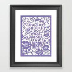 Rule #1 Framed Art Print