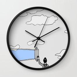 el cielo es azul Wall Clock