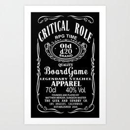 Critical Role Co. (White) Art Print