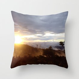 Sunset over the jungle in Costa RIca Throw Pillow