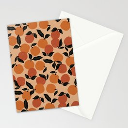Seamless Citrus Pattern / Oranges Stationery Cards