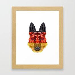 Gary the German Shephard Framed Art Print
