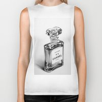 perfume Biker Tanks featuring Perfume Bottle by Ileana Hunter