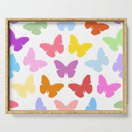 Multicoloured Butterflies Pattern Serving Tray