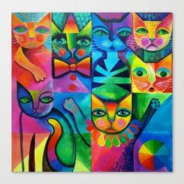 Clown Cats Canvas Print