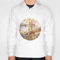 brooklyn bridge Hoodies featuring Brooklyn Bridge by LebensART