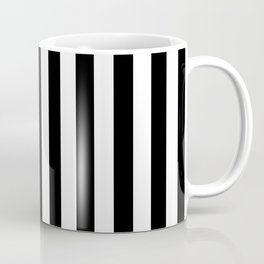 Lowest Price On Site - Vertical Black and White Stripes Coffee Mug